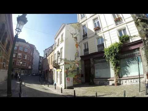 Comic Strip walk in Brussels