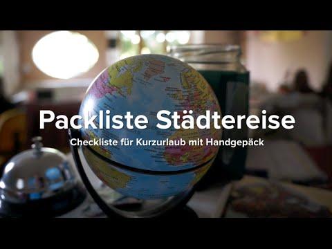 Packliste: Städtereise & Kurztrips mit Handgepäck (Ausrüstung & Tipps)