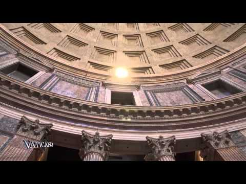 VATICANO - Rosenregen im Pantheon